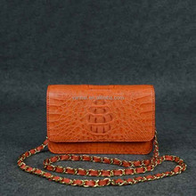real crocodile leather bag_exotic handbag_mini lady bag_ lady crocodile bag