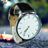 Best selling genuine leather quartz watch brand name wrist watch
