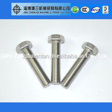 High Strength Hardened bolts carbon steel 8.8 class hex head bolts