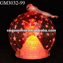 christmas decoration glass ball with star pattern