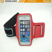 promotional waterproof sport velcro arm band phone case with key holder