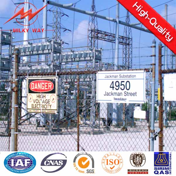 Electrical power compact substation steel structure for 33kv electricity transmission line
