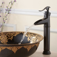 FLG100045 High Quality High End Waterfall Oil Rubbed Bronze Bathroom Basin Faucet