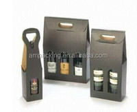 wholesale strong corrugated paper wine packaging box bottle carrier