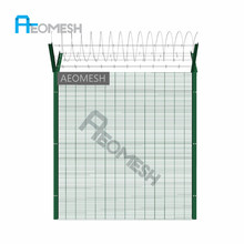 AEOMESH factory Alibaba top quality anti climb boundary fence price, iron wall grill design