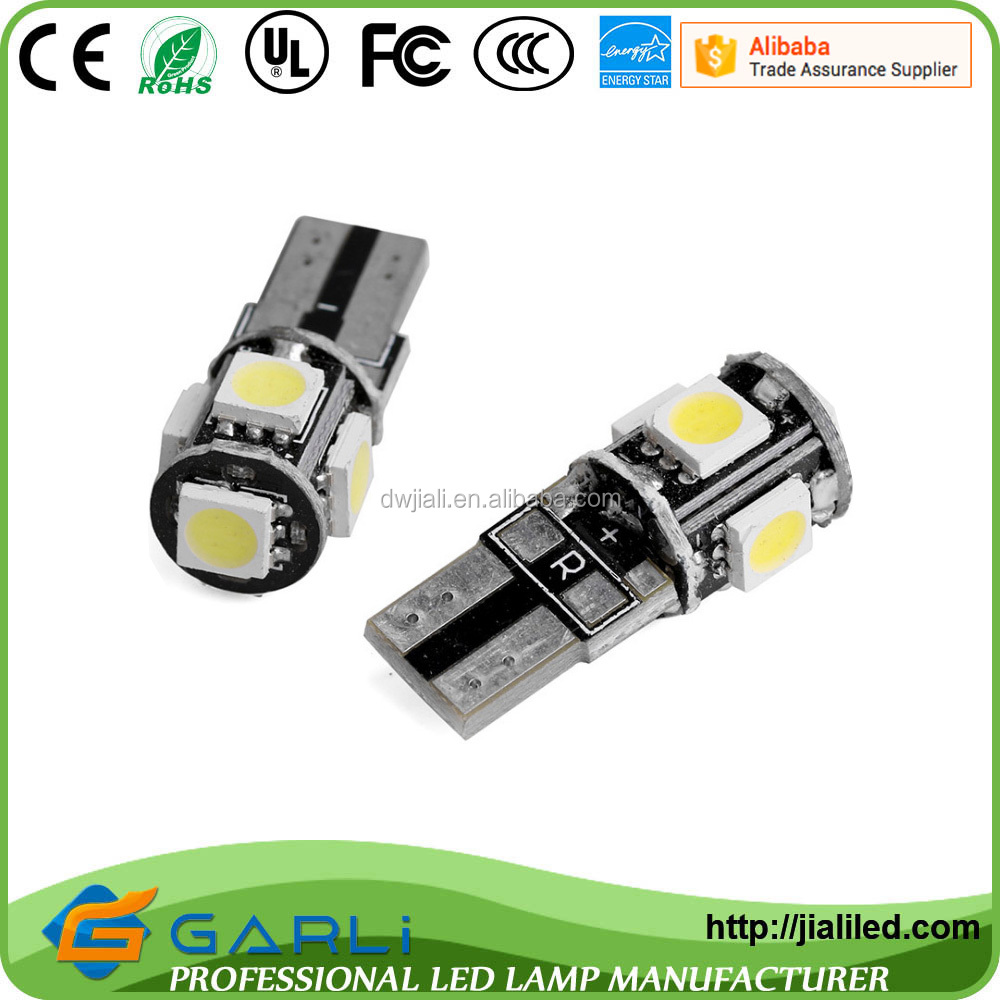T10 canbus 5050 SMD White LED Car Signal instrument interior reading Light canbus source lighting 12-24v