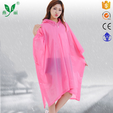 hooded long sleeve raincoat for men and women raincoat rain poncho with hood