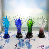 High Quality Spray Color Decoration Glass Vase for Wedding Centerpiece Glass Flower Container