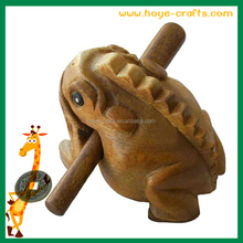 wholesale Wooden Decor Carved Frog croaking sound