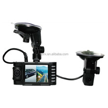 "Dual Camera Car DVR HD 2.7"" Screen GPS G-Sensor Two Lens Vehicle Blackbox"