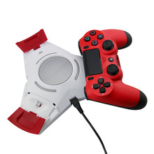 White+Red Color New Unique Triple USB Charging Dock For PS4 Controller