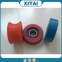 Factory Supplier OEM Service Shore 90A 92A 95A 72D 75D PU and wheel hub strong adhesion small industrial polyurethane wheel