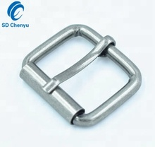 China Manufacturer Antique Silver Nickel Free Plated Iron Roller Single Prong Pin Buckles for Mens Belts