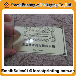 Custom Waterproof Cosmetic Labels Clear Cosmetic Stickers Labels