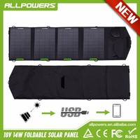 Allpowers 14W Solar Panel Charger USB 5V DC18V for iphone samsung HTC phones and laptop.