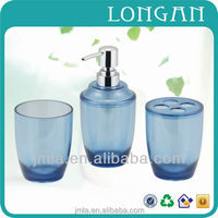 2015 wholesale glass bathroom accessories sets
