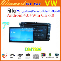 special car DVD player for VW Magotan/Passat/Golf/Jetta/Caddy/Tiguan/Touran/Seat/Skoda Superb with detachable panel DM7836C