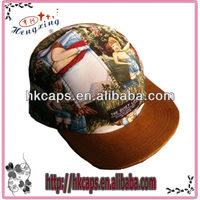 2013 cheap crazy wholesale 5 panel fashion floral cap and hats