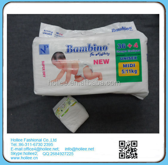 Bambino Breathable and lovely disposable baby diaper