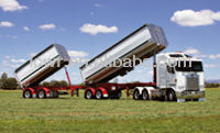 3 stages truck trailer hydraulic telescopic cylinder