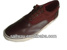 SW02YJ Man Stylish Sneakers with Claret PU Uppers