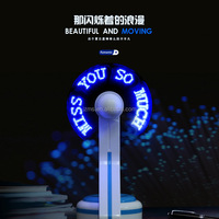 Android and IOS Support Bluetooth App Control USB Mini Programmable LED Digital Message Handheld Fan