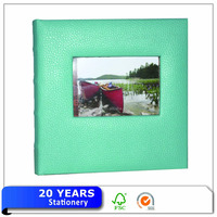 Fashion Acid-free Paper Inner Sheets Foil Printed Green Photo Album