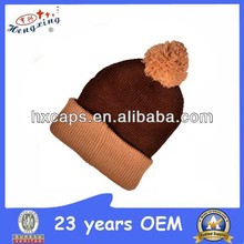 Plain Pom Pom Children Knitted Kids Wool Beanie Hats