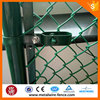 Green vinyl coated chain link wire mesh fence