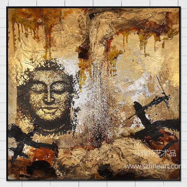 The new design hot selling buddha oil painting on canvas