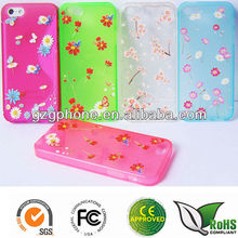 Colorful TPU printing case for iphone 5S/5SEcover