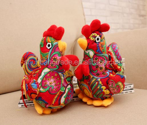 high quality free sample chinese doll stuffed animal plush chicken toy