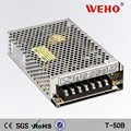 hot selling T-50A ac/dc 7A triple output 5V switching power supply