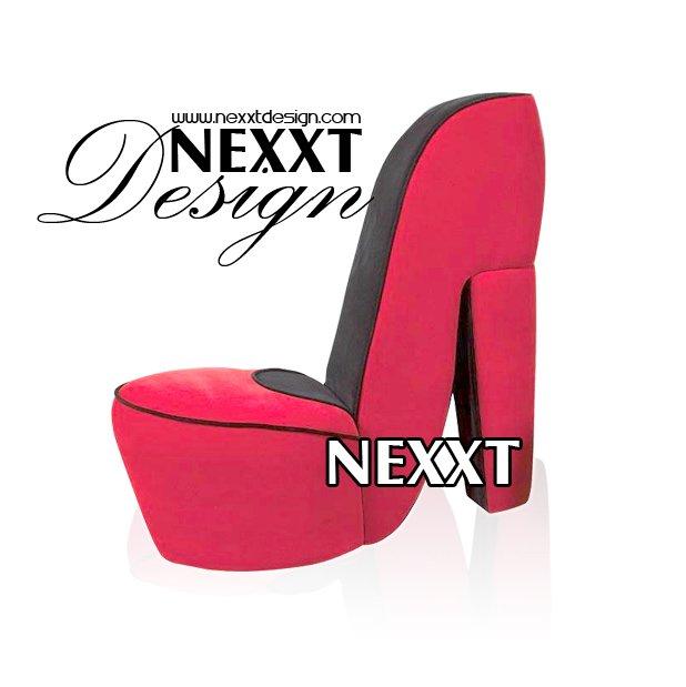 Zapatos de tac n alto silla barroco rojo y negro por for Zapatos para sillas