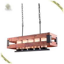 New Fashion Rectangle Metal Case Pendant light Industrial Rustic Caged Chandelier Big Basket Hanging Light