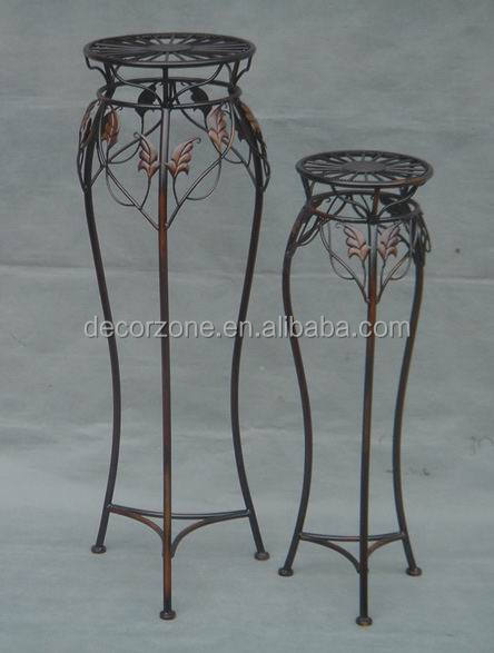 Wrought Iron Antique Metal Garden Patio Plant Stand