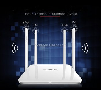 Strong penetration AC1200 Wireless wifi router Dual Band Gigabit Wireless Wi-Fi Router Wifi repeater 300Mbps 2.4Ghz 867Mbps 5Ghz