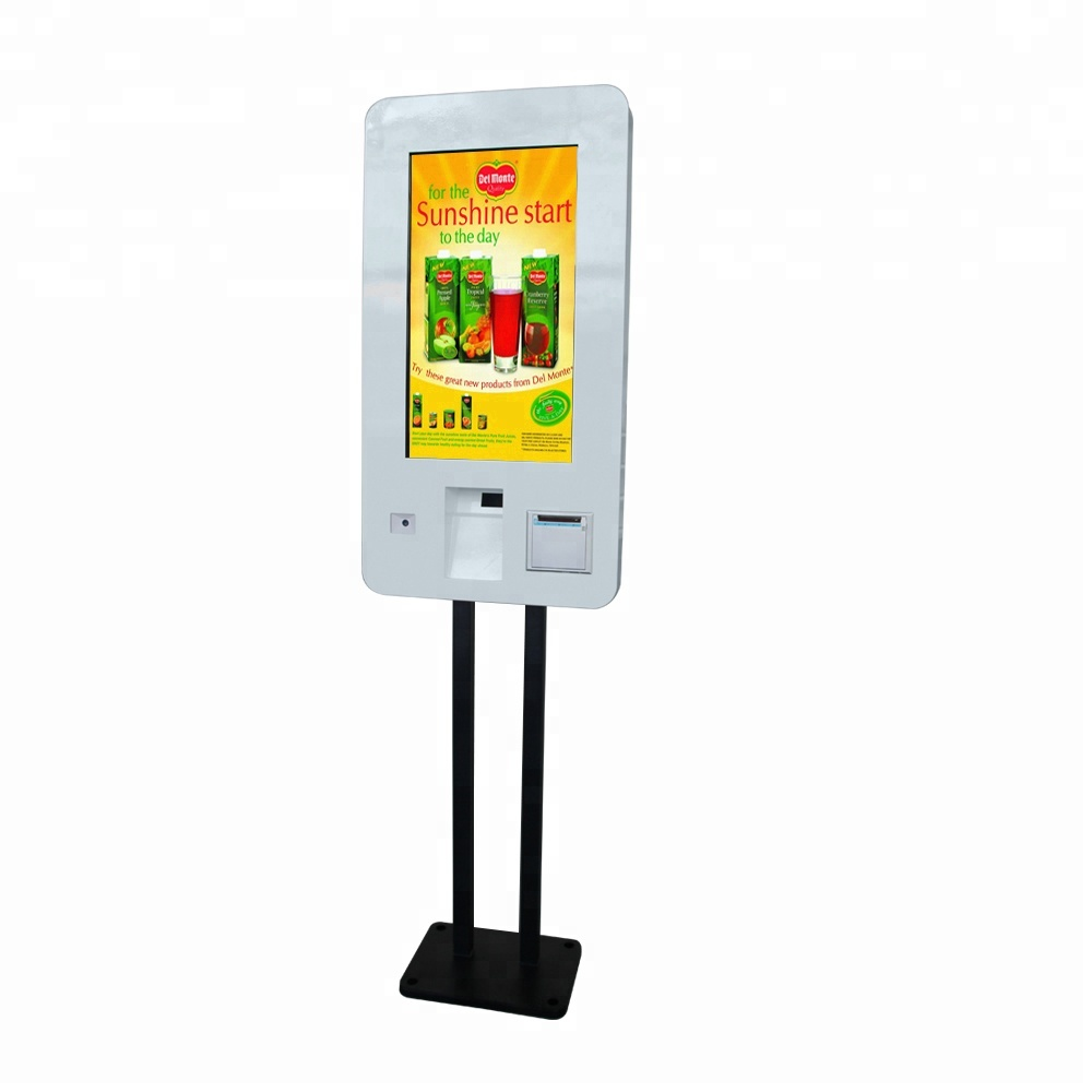Restaurant 27 inch self service ordering <strong>payment</strong> kiosk touch screen self pay kiosk