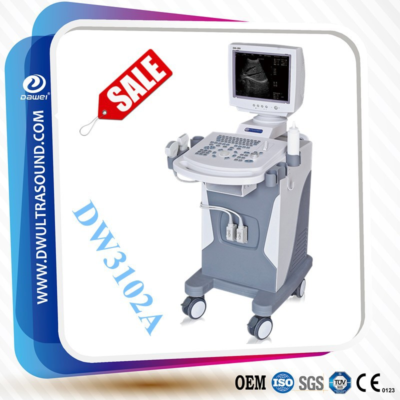 Full digital trolley ultrasound body scanner & ultrasound for sale DW3102A abdomen ultrasound device