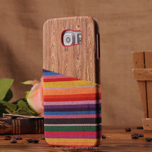 New Case for Samsung Galaxy S6, Colorful Denim fabric Skin PC covers