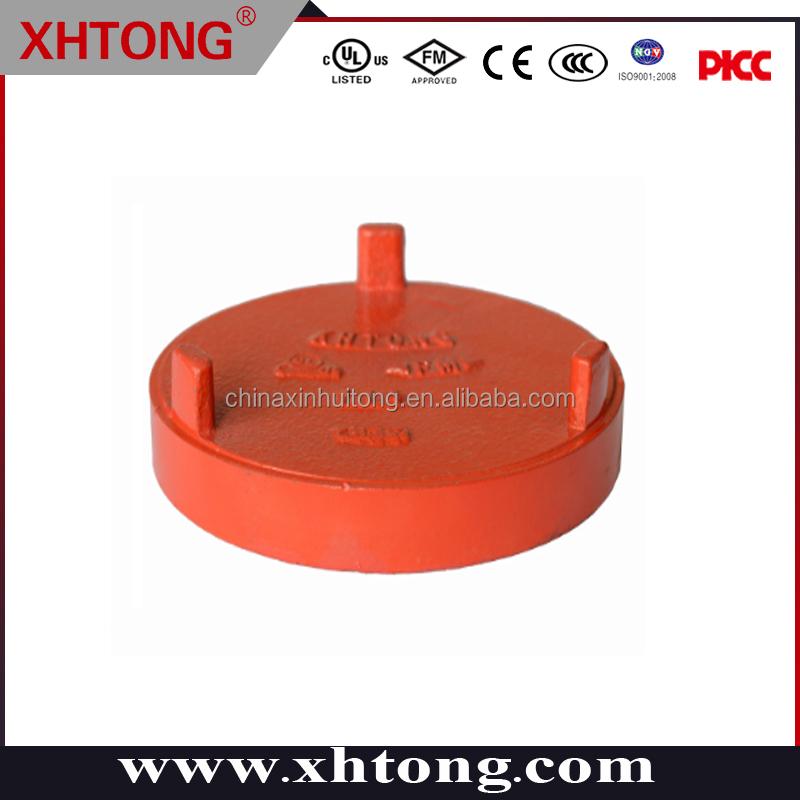 FM/UL/ISO/CE Approved Ductile Iron Pipe fitting 300psi pressure End Cap