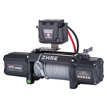 12 volt electric power 9500lbs pull jeep winch with wire rope
