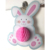 Easter Rabbit tissue paper honeycomb decorations
