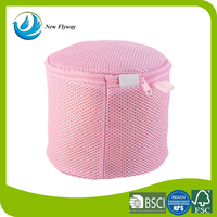 High quality foldable wash bag water soluble mesh fabric laundry bag