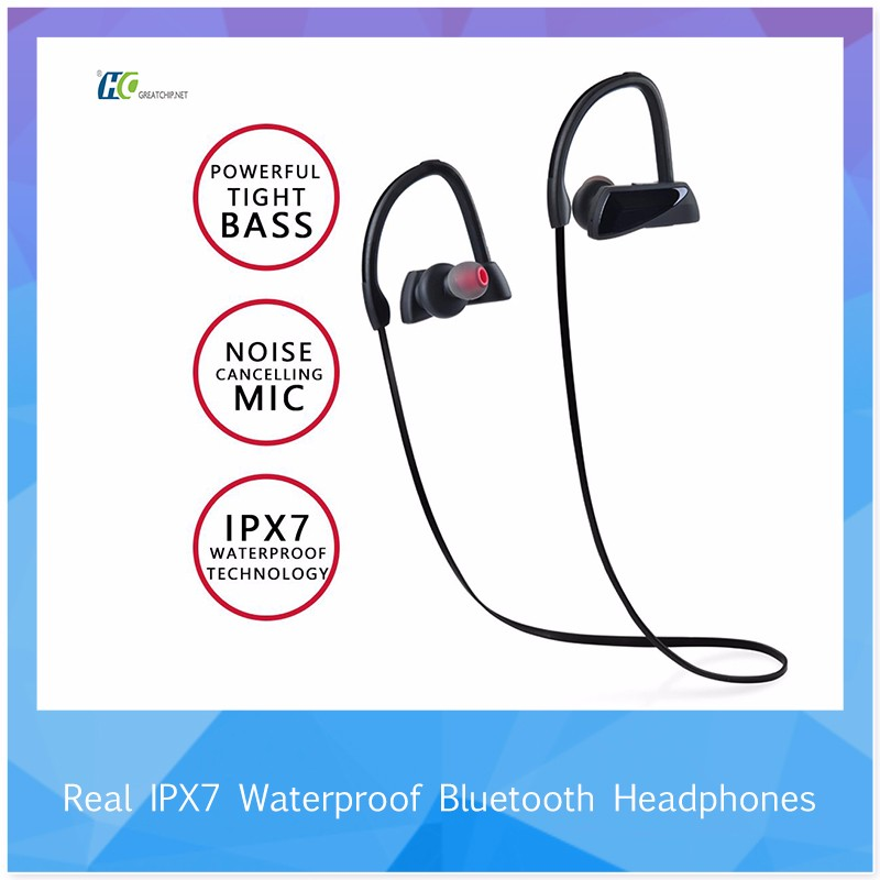 Hot selling 2017 amazon bluetooth headphone, in-ear wireless headphone with call function bluetooth for iphone 7 earphone