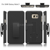 Rugged shockproof straw mat pattern belt clip holster case for samsung galaxy note 5 kickstand stand case