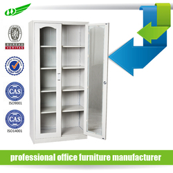 office used metal furniture glass display cabinet for sale