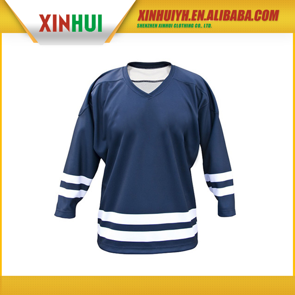 custom made high quality low price sublimation printing dry fit breathable ice hockey jersey russia