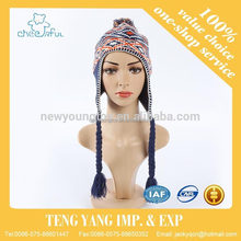 Newest design Winter use cheap price knitted hat for women