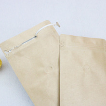 China Made zipper top paper bags with window kraft pouch bag